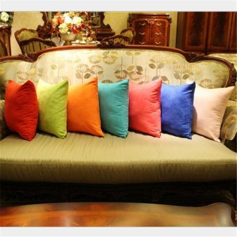 45cm x 45cm Cushion Cover Bed Sofa Throw Pillow Case color:Coffee -intl