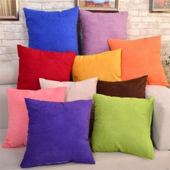 45cm x 45cm Cushion Cover Bed Sofa Throw Pillow Case color:Orange - intl