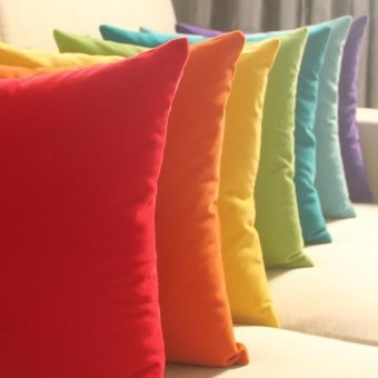 45cm x 45cm Cushion Cover Bed Sofa Throw Pillow Case color:Red -intl