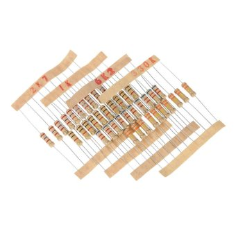 480pcs 1W 48 Values 1K ohm to 2M ohm Carbon Film Resistors Assortment Kit Electronic Components - intl