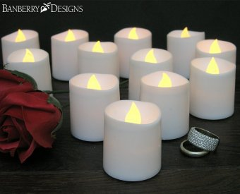 48pcs LED wave type candle lamp (yellow light) - intl - 4