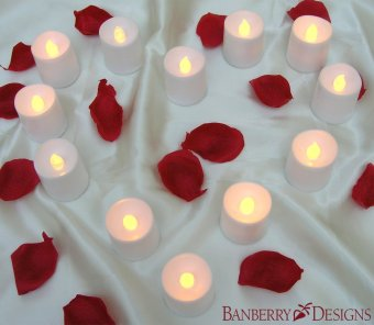 48pcs LED wave type candle lamp (yellow light) - intl - 5