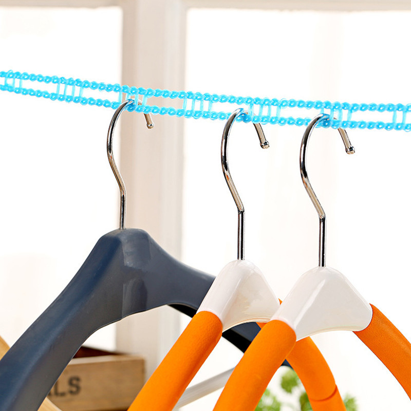 4ever 2pcs 3M/5M Adjustable Windproof Anti-slip Outdoor DryingClothes Hanger Clothesline Rope - intl