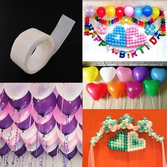 4ever 4rolls/400dots Removable Balloon Glue Wedding Birthday DecorAttachment Foil Balloons Party Supplies - intl