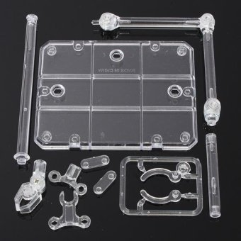 4PCS Action Base Suitable Clear Display Stand for 1/144 HG/RG Gundam/Figure Model Toy - intl