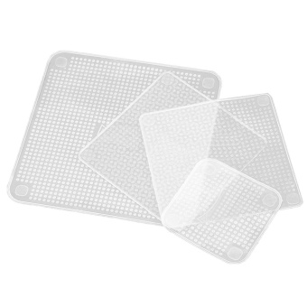 4PCS Keeping Food Fresh Reusable Silicone Kitchen Food Bowl WrapSeal Cover with Great Stretch Kitchen Accessory - intl