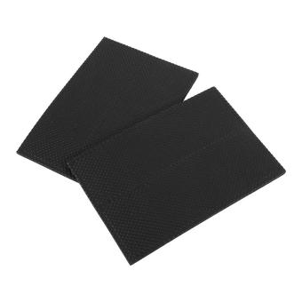 4pcs Non-slip Self Adhesive Floor Protectors Furniture Sofa DeskChair Rubber Feet Pads(Black) - intl