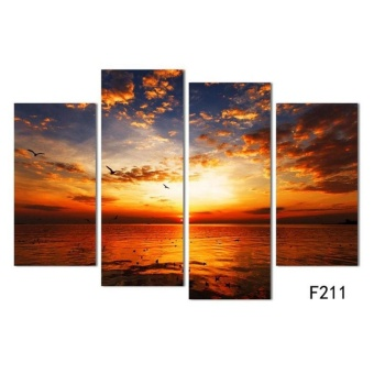4Pcs/lot Modern Landscape Canvas Wall Print Oil Painting For Home Decor - intl - 3