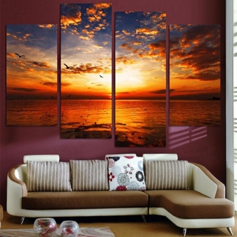4Pcs/lot Modern Landscape Canvas Wall Print Oil Painting For Home Decor - intl - 2