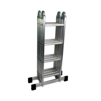 4x4/4 Fold Amazing Ladder 1.2 Thickness Aluminum (Silver)