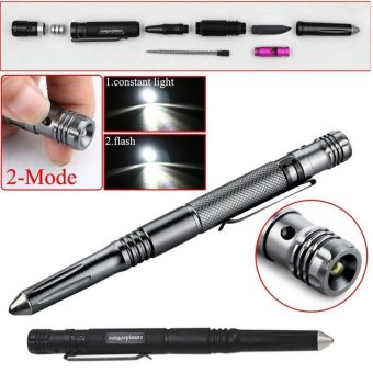 5 in 1 Tactical LED Flashlight Pen Self Defense color:Black - intl Price Philippines