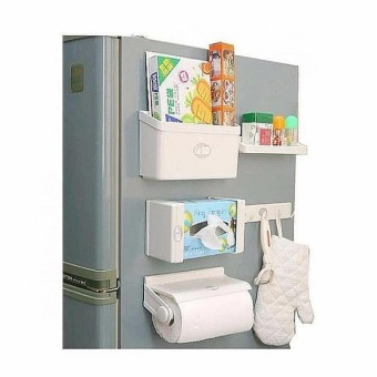 5 in1 Bathroom Magnetic Tissue Paper Roll Holder Organizer