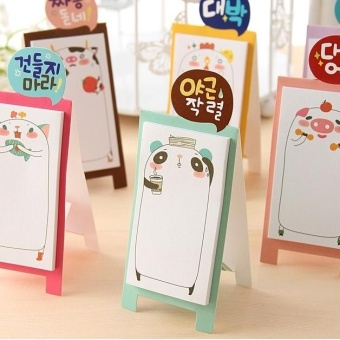 5 PCS Creative Cute Animal Family May Stand Self Adhesive Memo PadN-times Sticky Notes Post It Bookmark School Office Supply, RandomColor Delivery - intl