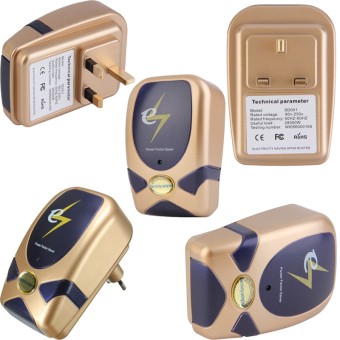 5 PCS Crony Electricity Power Factor Saver Electricity Saving Box Voltage 90V-250V (Gold)