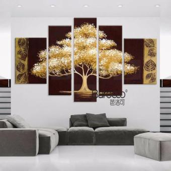 5 Pieces 100% Hand Painted Scenery Tree Oil Painting Modern HomeWall Art Decoration Price Philippines