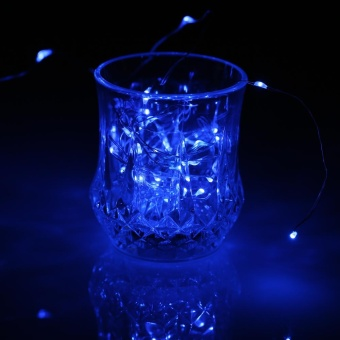 50 LEDs 5m/16.4ft Outdoor Copper String Wire Lights Colorful Fairy Lamp Battery Operated Water-resistant for Festive Celebrations Christmas Halloween Party Wedding Decoration - intl