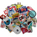 50 PCS Colorful Cartoon Waterproof Removable Skateboard GuitarTravel Case Car Motorcycle Bike Laptop Sticker Decal Stickers StyleB - intl
