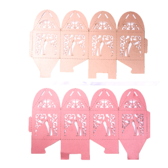50 Pieces Laser Cut Birdcage Wedding Favor Box (Pink) - picture 2
