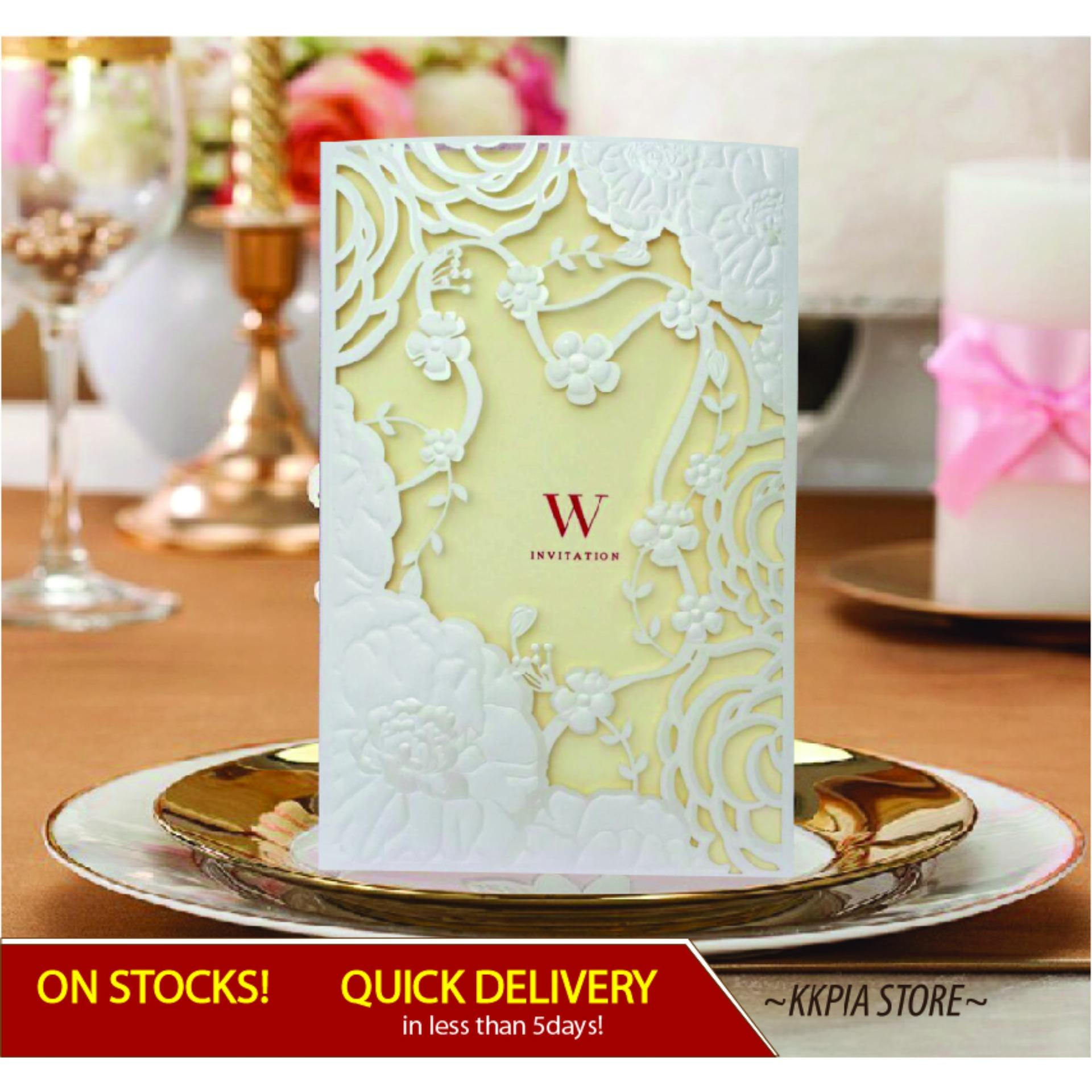 Quick Delivery Wedding Invitations Sets Wc Elegant Laser Cut Invites Party Or Special Occasion