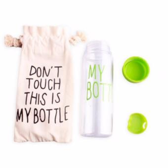 500ML My Bottle Sports Clear Plastic Fruit Juice Water Cup (Green) - 2