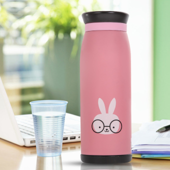 500ml Thermos Mug Insulated Tumbler Travel Cups Rabbit - picture 2