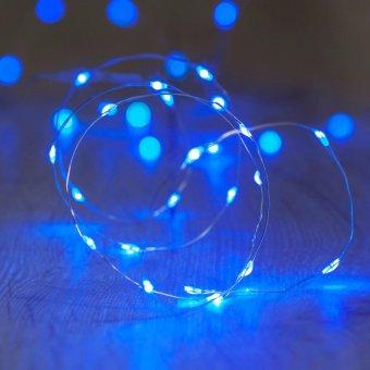 50l fairy light battery operated led christmas light blue