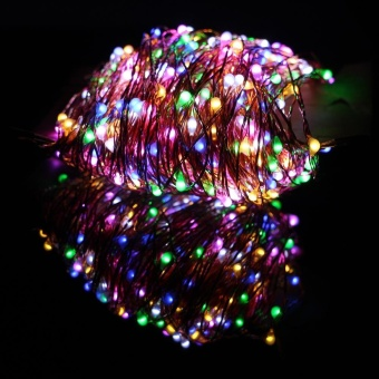 50M/165FT 500LEDs Copper Wire LED String Lights Holiday Fairy Lights Dimmable Christmas Holidays Lights with Remote Control + UL CE Adapter - intl