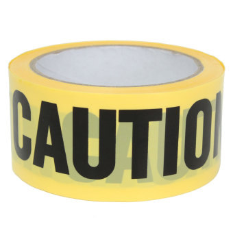 50mx5cm Roll Yellow Caution Tape Sticker Safety Barrier Police Construction Area (Intl)