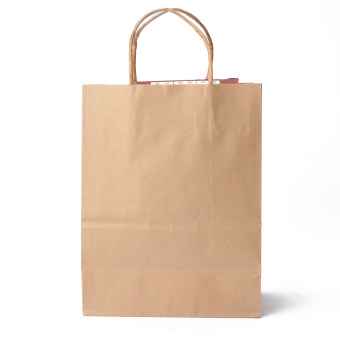 50pcs Kraft Brown Twisted Handle Shopping Gift Merchandise PaperCarrier Retail Bags 21x11x27CM - intl Price Philippines