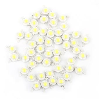 50pcs SMD 1W LED Lamp Beads Bulb Chip Cool White - intl