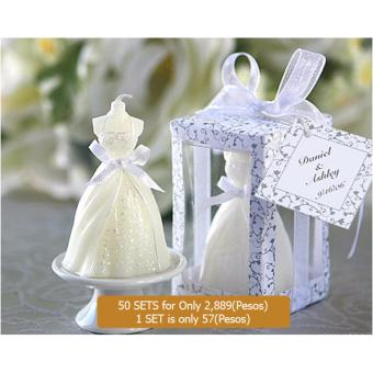 50pcs Wedding Dress Candle Favor Gifts Party Favor For GuestWedding Souvenirs Birthday Gifts souvenirs souvenir Price Philippines