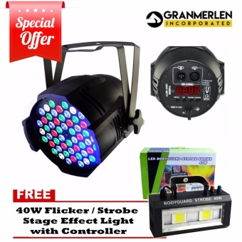 54 led bulb RGB with exhaust fan, Par Light (Black) FREE 40W PowerFlicker Light / Strobe Light Stage light Effect