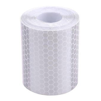 5cm*300cm Reflective Tape Stickers Car Styling For Automobiles White - intl