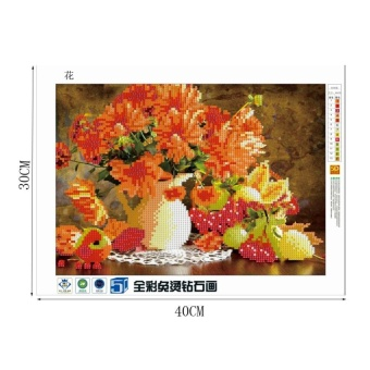 5D Diamond Painting Flowers Embroidery DIY Cross Stitch Crafts Home Wall Decor - intl - 2