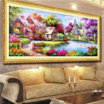 5d Diamond Painting Mosaic Landscapes Garden Lodge Cross StitchKits Diamonds Embroidery Home Decoration - intl