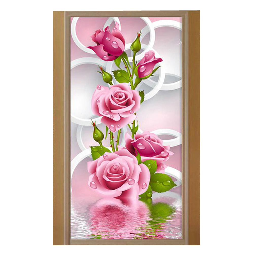 Rose wall stickers gallery home wall decoration ideas 5d diy diamond painting rose flower embroidery diamonds wall 5d diy diamond painting rose flower embroidery amipublicfo Gallery