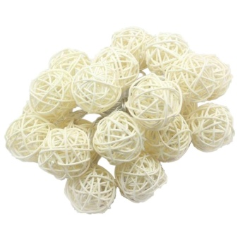 5M 20led Rattan Ball Wicker String Lights Fairy Christmas 200V EU - intl