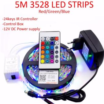 5m 3528 led strip light rgb 24keys remote control with 12v 2a 5m 3528 led strip light rgb 24keys remote control with 12v 2a power adapter mozeypictures Choice Image