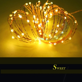 5M 50 LED String Light Battery Operated LED Copper Wire StringLight for Indoor/Outdoor Wedding Party Decor Warm White - intl