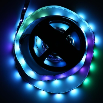 5M 5050 IC 6803 LED RGB Strip Light With Remote Control (Colorful) - intl