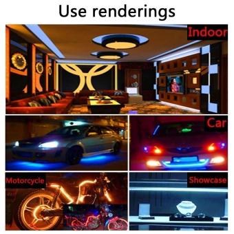 5M 5050 RGB SMD LED Waterproof Flexible Strip 300 LEDs + 44 Key IR Remote - intl - 4