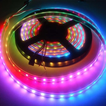 5M 5050 SMD RGB Flexible Strip LED Light Muti color 12V 300 led Lamp - intl