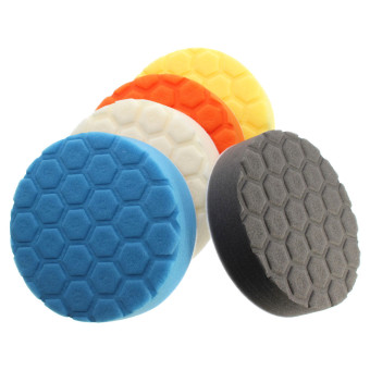 5pc New 5 inch Hex-Logic Polishing Pad kit For Car Polisher --select set - Intl