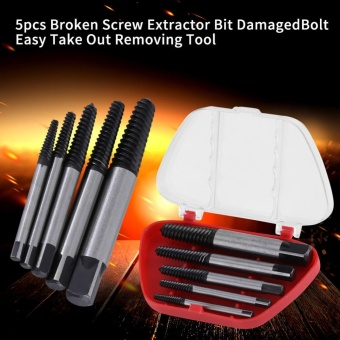 5pcs Broken Screw Extractor Bit Damaged Bolt Easy Take Out RemovingTool - intl