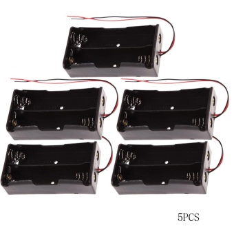5pcs Plastic Power Holder Storage Box Case for 2x18650 - intl