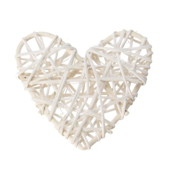 5PCS White Heart Sepak Takraw For Christmas Birthday Party & Home Wedding Party Decoration Rattan Ball - intl - picture 2