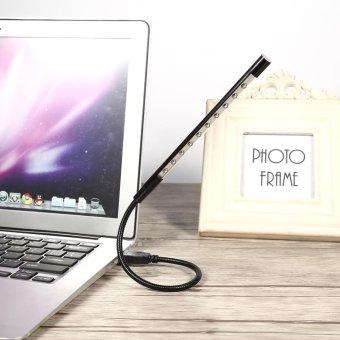 5V USB LED Reading Light Desk Lamp For Laptop PC Computer Black -intl - 3