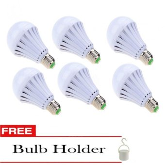 5w Intelligent Water Proof Emergency Magic Light Bulb Set of 6 with Free Bulb Holder