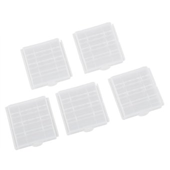 5x New Clear Plastic Battery Box Storage Case Cover Holder For AA AAA Batteries - Intl