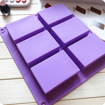6-Cavity Plain Rectangle Soap Mold Silicone Craft DIY Making Multi Color - intl Price Philippines